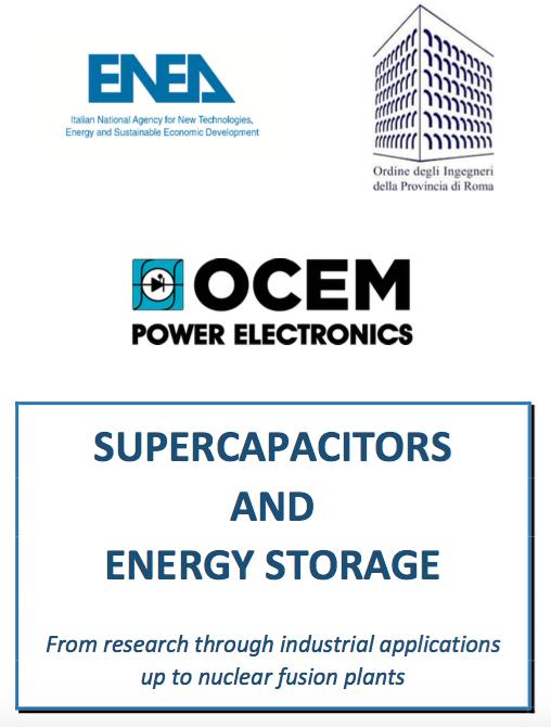 "OCEM Power Electronics sponsor alla conferenza ""Supercapacitors and Energy Storage"""